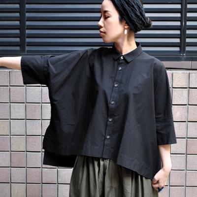 画像3: 【 別注アイテム 】FACTORY(ファクトリー)/  カジュアルワイド半袖シャツ(約5〜6分袖)ペルーコットン