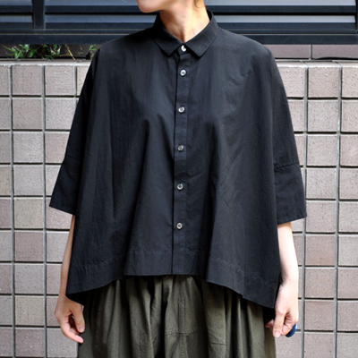 画像2: 【 別注アイテム 】FACTORY(ファクトリー)/  カジュアルワイド半袖シャツ(約5〜6分袖)ペルーコットン