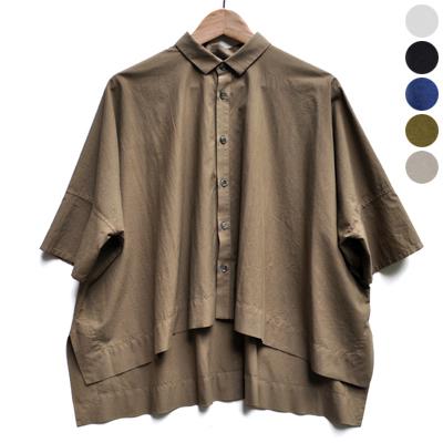 画像1: 【 別注アイテム 】FACTORY(ファクトリー)/  カジュアルワイド半袖シャツ(約5〜6分袖)ペルーコットン
