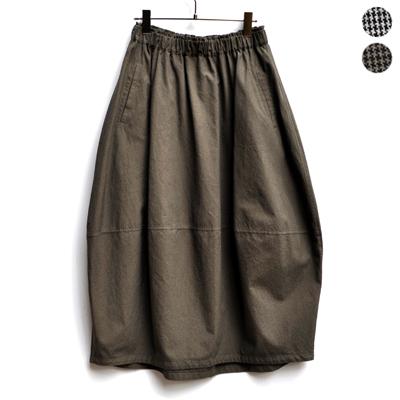 画像1: 【 SALE 】¥19,000→¥15,200 / FACTORY(ファクトリー)/ 千鳥格子 バルーンスカート(ペルーコットン)