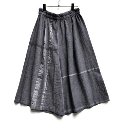 画像1: 【暦シリーズ / 葉月】tamaki niime(玉木新雌) /  wide pants cotton(ワイドパンツ:コットン)ショート【 限定カラー / 杢グレー】B
