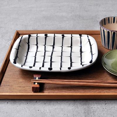 画像1: 丹窓窯 / スリップ 長方鉢