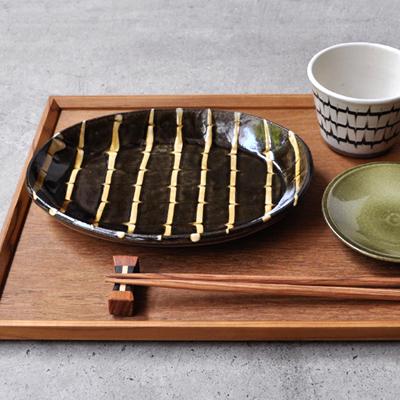 画像2: 丹窓窯 / スリップ 楕円鉢
