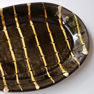 画像4: 丹窓窯 / スリップ 楕円鉢