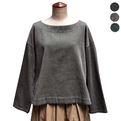 画像1: 【 SALE 】¥19,000→¥15,200 / FACTORY(ファクトリー)/ 刺子織 スリップオンブラウス(ペルーコットン)