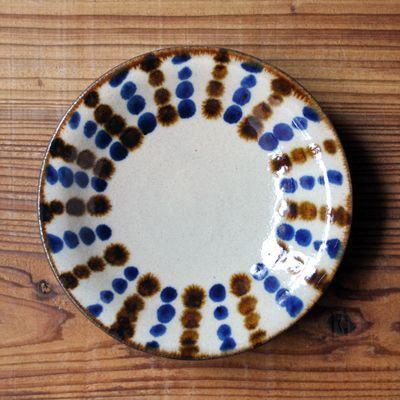 画像1: 工房マチヒコ / 5寸皿(ドット)