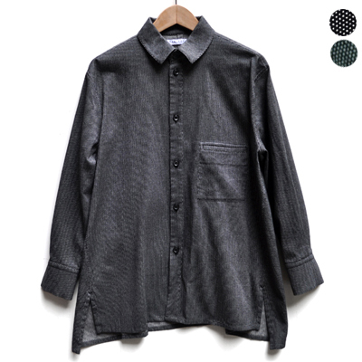画像1: FACTORY(ファクトリー)/ 刺子織 カジュアルフレアーシャツジャケット