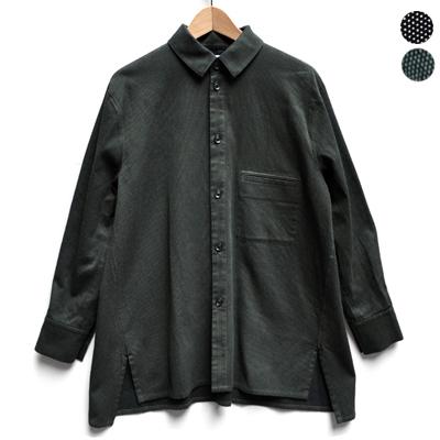 画像4: FACTORY(ファクトリー)/ 刺子織 カジュアルフレアーシャツジャケット
