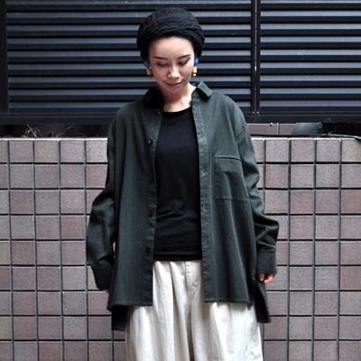 画像2: FACTORY(ファクトリー)/ 刺子織 カジュアルフレアーシャツジャケット