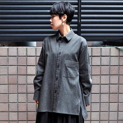 画像3: FACTORY(ファクトリー)/ 刺子織 カジュアルフレアーシャツジャケット