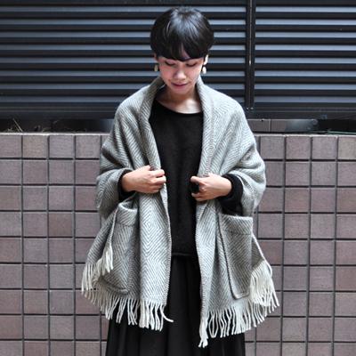 画像1: 【再入荷】LAPUAN KANKURIT(ラプアンカンクリ) /  ポケットショール(MARIA)・グレー