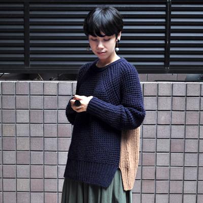 画像3: 【 SALE 】¥25,000→¥17,500 / FACTORY(ファクトリー)/ キャメル バイカラーセーター