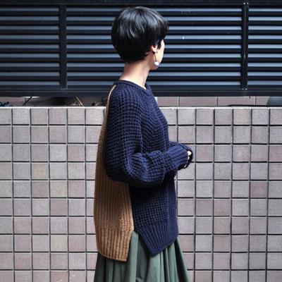 画像4: 【 SALE 】¥25,000→¥17,500 / FACTORY(ファクトリー)/ キャメル バイカラーセーター