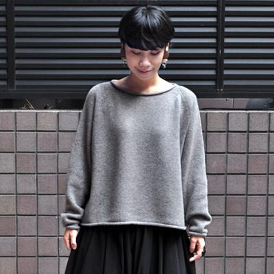 画像1: 【別注アイテム】FACTORY(ファクトリー)/ ヤク ショート丈 ロールネックセーター