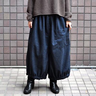 画像1: 【 SALE 】¥9,800→¥6,860 / ICHI(イチ )/ 前ポケット エターミン バルーンワイドパンツ