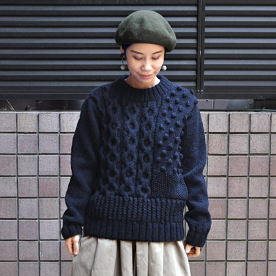 画像3: 【 SALE 30%OFF 】¥17,800→¥12,460 / HARVESTY(ハーベスティ)/ 手編みケーブルニットセーター