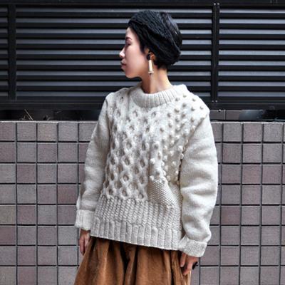画像2: 【 SALE 30%OFF 】¥17,800→¥12,460 / HARVESTY(ハーベスティ)/ 手編みケーブルニットセーター