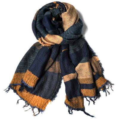 画像2: tamaki niime(玉木新雌) / Roots Shawl wool(ルーツショール:ウール)リバーシブルタイプ・middle(中判サイズ)