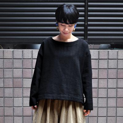 画像1: 【 SALE 】¥20,000→¥15,000 / FACTORY(ファクトリー)/ リネン×ウール ヘリンボン スリップオンブラウス