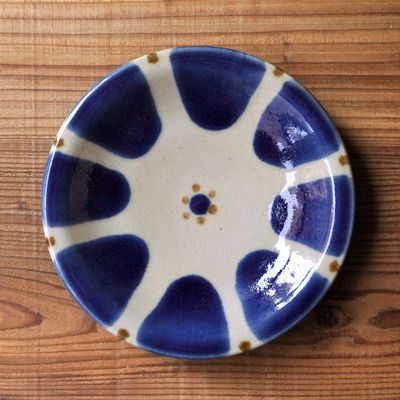 画像1: ノモ陶器製作所 / 6寸皿・コバルト