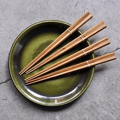 画像1: オークの木の箸