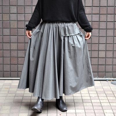画像4: 【 SALE 】¥23,000→¥18,900 / FACTORY(ファクトリー)/ 千鳥格子 アシンメトリーサーキュラースカート(ペルーコットン)