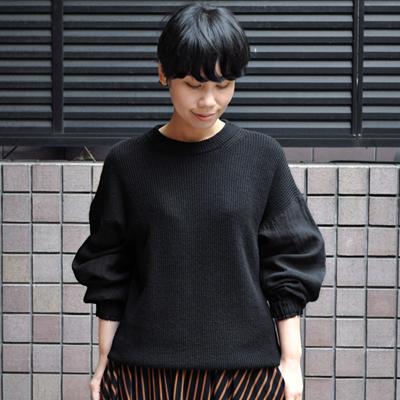 画像1: FACTORY(ファクトリー)/ ベルギーリネン×綿麻 ニットシャツ