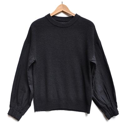 画像2: FACTORY(ファクトリー)/ ベルギーリネン×綿麻 ニットシャツ
