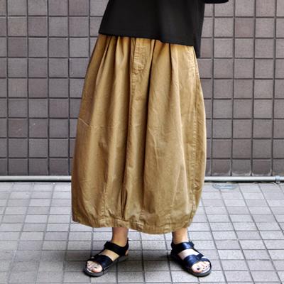画像1: HARVESTY(ハーベスティ)/ チノクロス サーカススカート