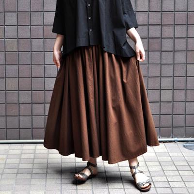 画像1: FACTORY(ファクトリー)/ 千鳥格子 サーキュラースカート(ペルーコットン)