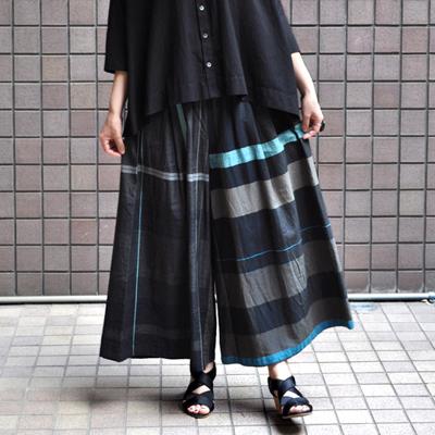 画像1: tamaki niime(玉木新雌) / only one  wide pants : cotton(オンリーワン ワイドパンツ:コットン)・ロング