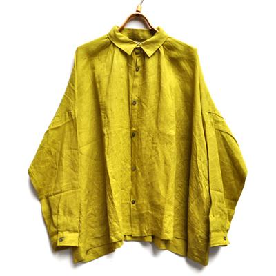 画像3: 【2019AW】ICHI Antiquite's(イチ アンティークス)/ イタリアンリネン ワイドギャザーシャツ