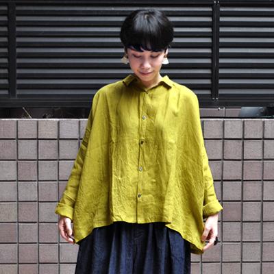 画像4: 【2019AW】ICHI Antiquite's(イチ アンティークス)/ イタリアンリネン ワイドギャザーシャツ