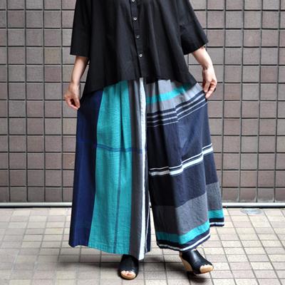 画像2: tamaki niime(玉木新雌) / only one  wide pants : cotton(オンリーワン ワイドパンツ:コットン)・ロング