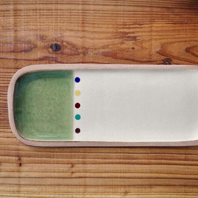画像1: 一翠窯 / たたら長方皿(長)・オーグスヤー