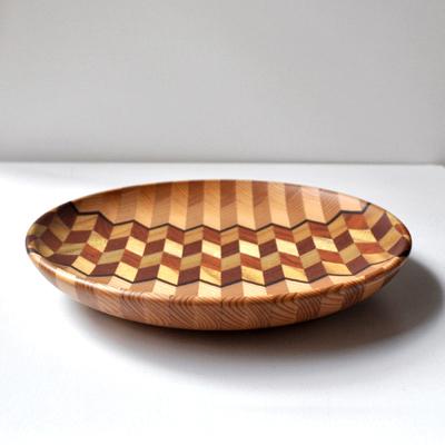 画像2: 金指勝悦 / 6.5寸 寄木盛り皿