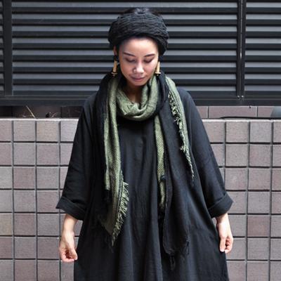 画像3: 【きぶんシリーズ9月】tamaki niime(玉木新雌) / リバーシブル mocotton shawl ・ミドル(無撚糸コットン)