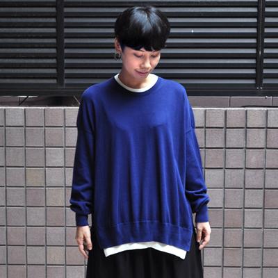 画像1: 【2019AW】FACTORY(ファクトリー)/ ペルー綿 レイヤードセーター