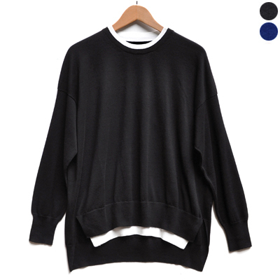 画像2: 【2019AW】FACTORY(ファクトリー)/ ペルー綿 レイヤードセーター