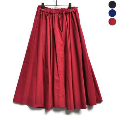 画像1: 【2019AW】FACTORY(ファクトリー)/ ペルー綿 高密度ブロード サーキュラースカート