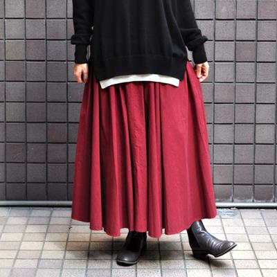 画像1: FACTORY(ファクトリー)/ ペルー綿 高密度ブロード サーキュラースカート