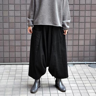 画像1: 【きぶんシリーズ11月】tamaki niime(玉木新雌) / 【ウールベーシック 】タルンパンツ ロング・ブラック(ウール)