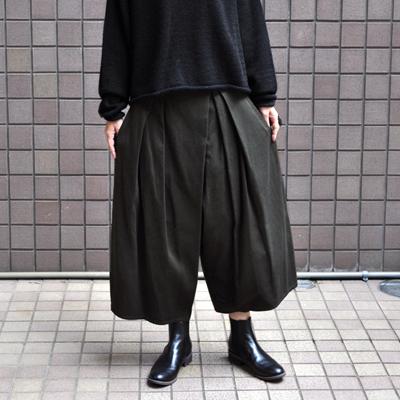 画像1: 【2019AW】FACTORY(ファクトリー)/ 刺子織 タックバルーンパンツ(ペルーコットン)