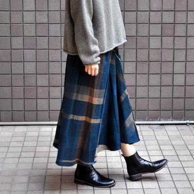 画像4: tamaki niime(玉木新雌) / only one chotan skirt : wool(オンリーワン チョタンスカート:ウール)