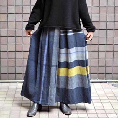 画像1: tamaki niime(玉木新雌)/ only one powan skirt wool(オンリーワン ポワンスカート:ウール)・ロング