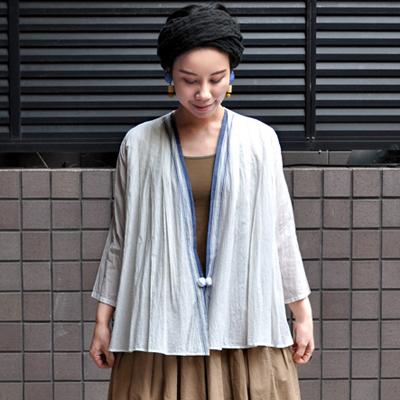 画像5: 【 SALE 20%OFF】¥18,000→¥14,400 / Indigo Planet(インディゴプラネット)/ カディコットン カーディガンブラウス