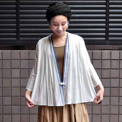 画像4: 【 SALE 20%OFF】¥18,000→¥14,400 / Indigo Planet(インディゴプラネット)/ カディコットン カーディガンブラウス