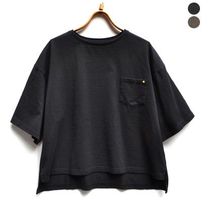 画像1: 【再入荷】HARVESTY(ハーベスティ)/ ドロップショルダーボックスTシャツ