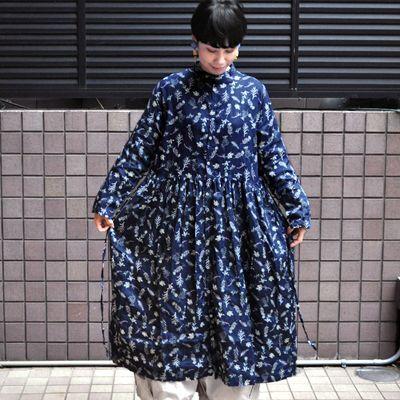 画像1: 【 SALE 30%OFF】¥20,000→¥14,000 / ICHI Antiquite's(イチ アンティークス)/ フローラルパターン リネンワンピース