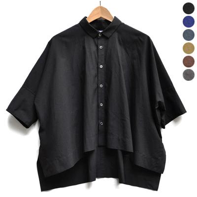画像1: FACTORY(ファクトリー)/ ペルー綿 カジュアルワイド半袖シャツ(約5〜6分袖)